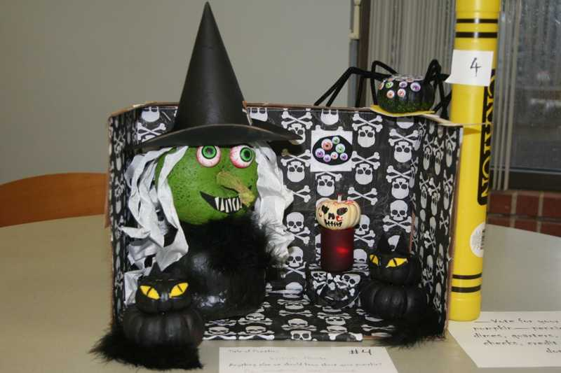 2014-SKY LAKES MEDICAL CENTER STAFF hold a Halloween pumpkin decorating contest. Entry fees were donated to the Food Bank. AREN'T THEY GREAT?